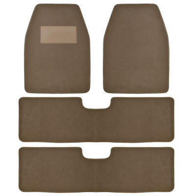 Bdkusa 3 Row Best Quality Carpet Car Auto Mats For Suv Van   4 Pcs   Dark Beige