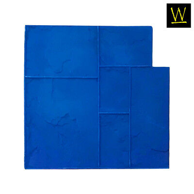 Ashler Notched Slate Single Rigid Concrete Stamp By Walttools Blue