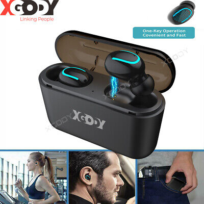 Bluetooth 5.0 Headset Wireless Headphone Earpiece Hands-free