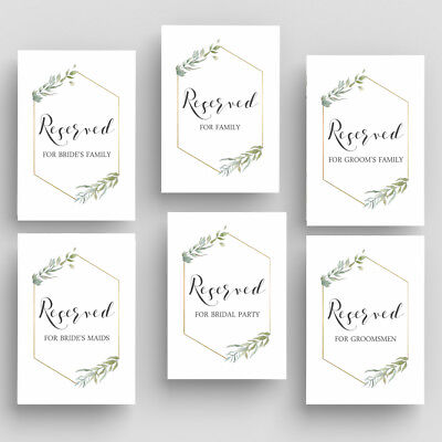 Wedding Table Signage, Reserved Reception Signs - Wedding Reception Signs