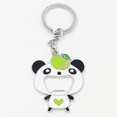 Cute Panda Keychain Coke Beer Bottle Drink Opener Lovely Bag Handbag Pendant