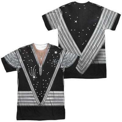 Authentic KISS Spaceman Ace Frehley Uniform Outfit Costume Front Back T-shirt](Ace Costume)