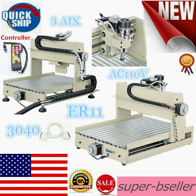 3 Axis Cnc 3040 Router Engraver Er11 400w 3d Milling Drilling Cutter Controller