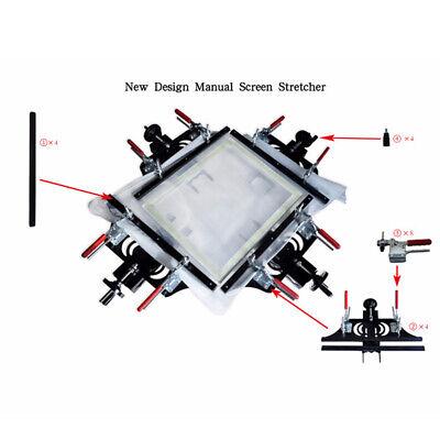 Black Manual Stretcher Screen Printing Plate Making Tool Electrostatic Spraying