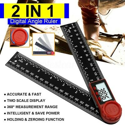 """7in"""" 2 in1 Digital Protractor Ruler Angle Finder for Crown Trim Woodworking UF"""