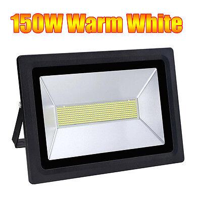 UK 150W Warm White LED Flood Light Safety Waterproof Outdoor Glass Light 720Pcs