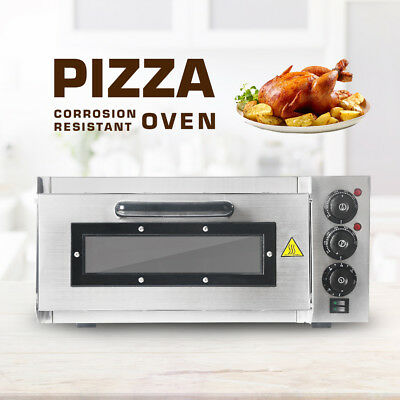 Commercial Pizza Oven Electric Kitchen Countertop Cake Baking Machine Stainless