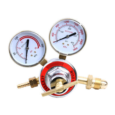 Pressure Acetylene Regulator Welding Gas Gauge Torch Cutting Cga510 W 2 Gauges