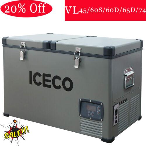 ICECO 47/63/68/78QT Portable Car Fridge Freezer Refrigerator Camp Travel Truck
