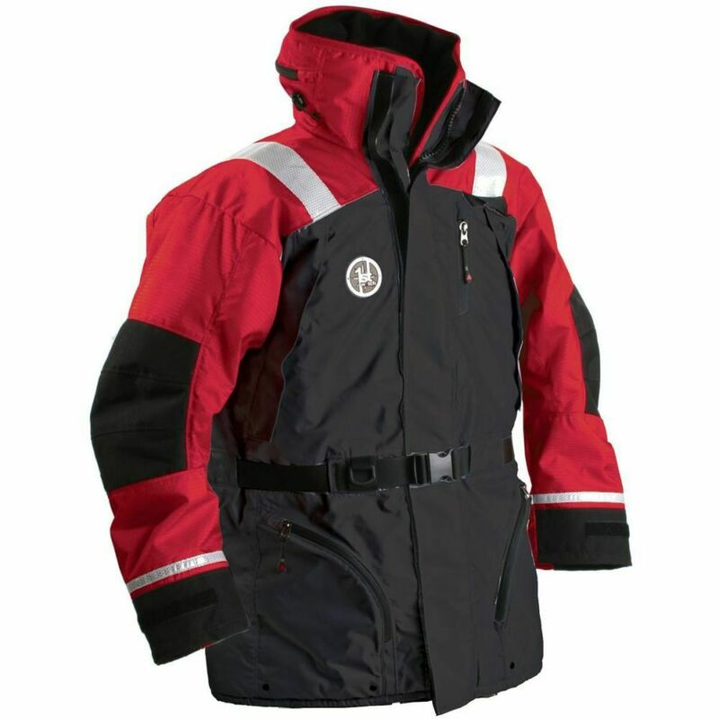 First Watch AC-1100 Flotation Coat - Red/Black - Large, AC-1100-RB-L