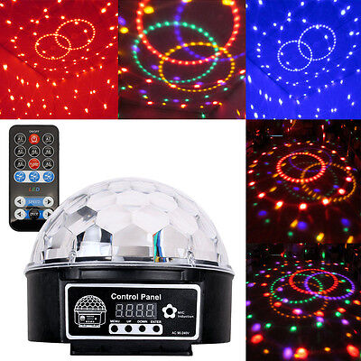 DJ Party Lichteffekt Kugel LED RGB Licht Projektor Beleuchtung Discokugel 26016A