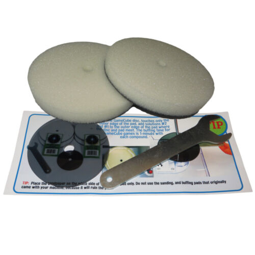 JFJ EASY PRO GameCube Repair Kit - GC Plate and 2 GC Buffing Pads