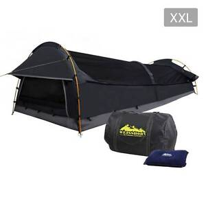 Free Delivery: XXL Deluxe King Single Swag Camping Swag Grey Box Hill Whitehorse Area Preview