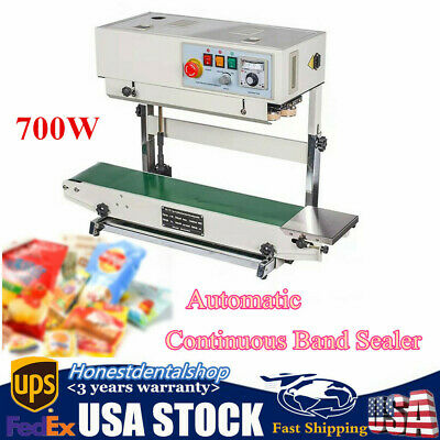 Automatic Continuous Band Sealer Horizontal Vertical Bag Sealing Machine 700w