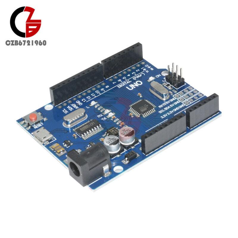 Version Arduino UNO R3 ATMEGA328P-16AU CH340G Micro USB Board
