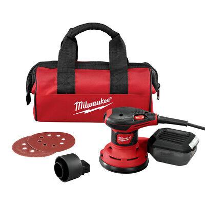 Milwaukee 5 in. Random Orbit Palm Sander with Dust Bag 6034-21 New