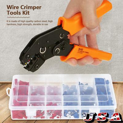 Ferrule Crimper Crimping Plier Crimp Tool Kit 450 Cable Wire Terminal Connector