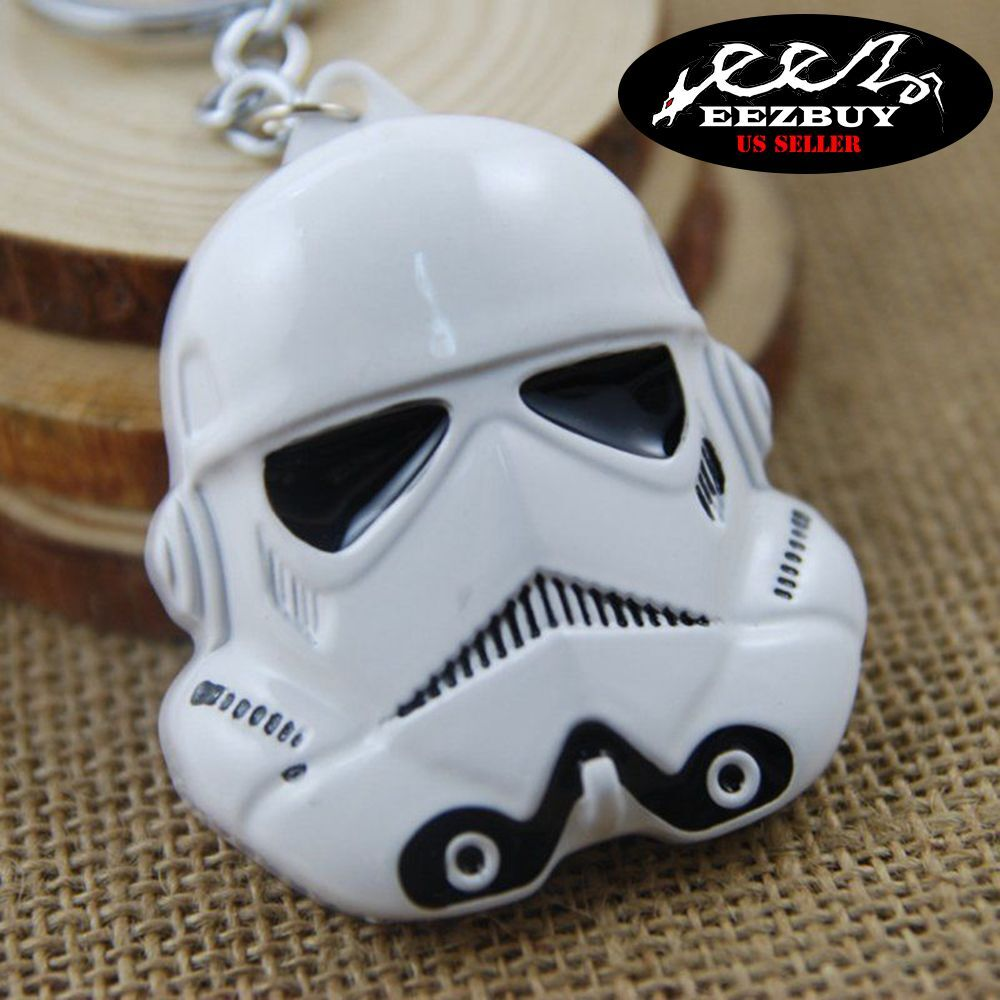 Star Wars Keychains Stormtroopers Imperial Army Brass KeyRing Car Keychain White