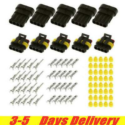 30x 234-pin Car Waterproof Male Female Way Electrical Connector Plug With Wire