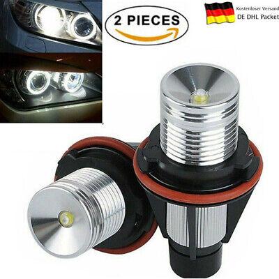 Neu 2X 10W LED Angel Eyes Standlicht Marker für BMW E39 E53 E60 E61 E63 E65 DHL