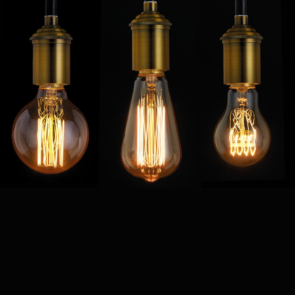Details about vintage light bulbs decorative filament 40w b22 bayonet e27 screw in fittings