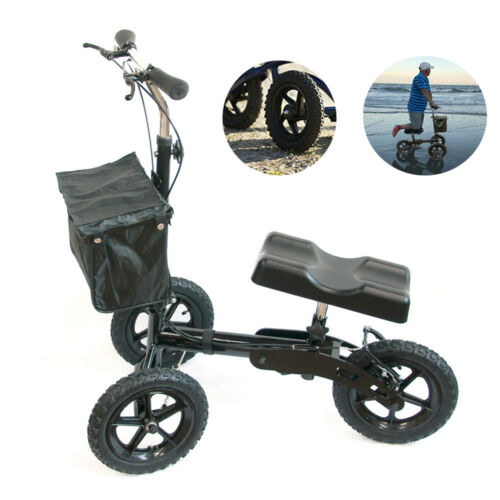 Foldable Medical Steerable Knee Walker Aid Scooter Crutches