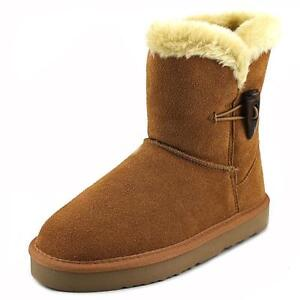 9dbcca032 Style & Co. Womens TINY2 Suede Round Toe Ankle Cold Weather BOOTS 5