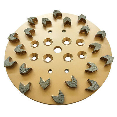10 2530 Arrow Diamond Concrete Grinding Head Disc Plate For Edco Floor Grinder