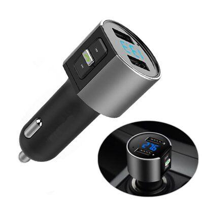 Auto Transmitter FM Modulator Bluetooth Car Kit Zigarettenanzünder Dual USB DHL