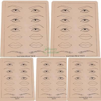 "5Pcs Tattoo Practice Skin for Needle Machine Supply Eyebrow&Lips Sheets 8"" X 6"""