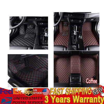 Floor Mats Carpet Waterproof pads For Jeep Grand Cherokee Red+Black/Coffee/Black - Red Floor