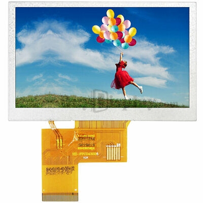 4.3 Inch 800x480 Ips Tft Lcd Module All Viewing Optional Touchscreen Display