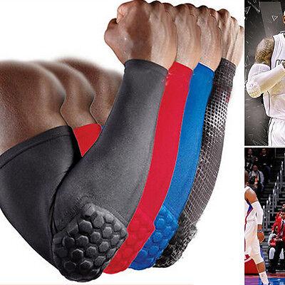Hand Arm Crashproof Long Sleeve Gear Honeycomb Pad Antislip Basketball Wristband