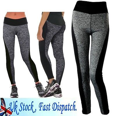 Sexy Womens Sport Yoga Running Pants Fitness Gym Clothes High Waist Jogging L164