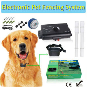 Hidden Dog Pets Containment System Electric Shock Boundary Control Fence Collar