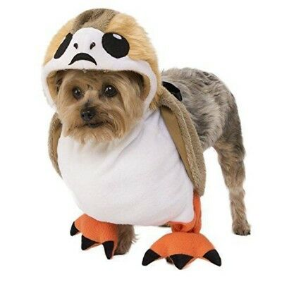 Dog Jedi Costume (Porg Star Wars Pet Costume Dog Movie Treadmill Cute Funny The Last Jedi Rey)