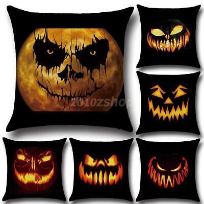 Baumwoll Kissenbezug Haus Halloween Dekor Kürbis Muster 43 - Halloween Dekor Muster