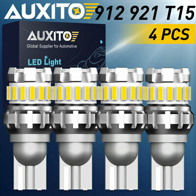 4x AUXITO 18chips Super Bright LED Reverse Backup Light 921 912 Bulbs T15 6500K