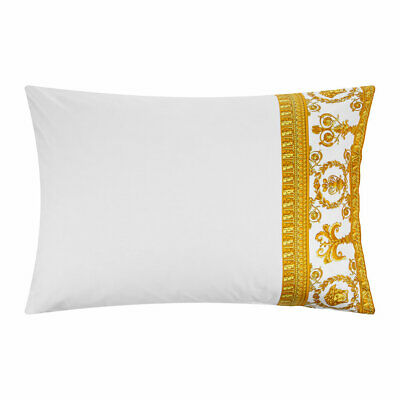 VERSACE HOME Barocco&Robe Queen Pillowcase Pair - White/Gold