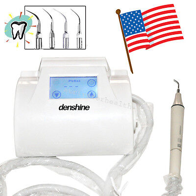 Us Touch Screen Lcd Dental Piezo Ultrasonic Scaler Handpiece Tips Teeth Cleaning