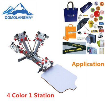4 Color 1 Station Micro Registration Silk Screen Printing Press Equipment