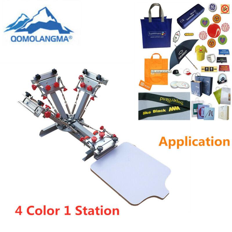 USA 4 Color 1 Station Micro Registration Silk Screen Printing Press Equipment