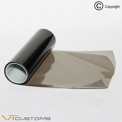 30 x 100cm Medium Gun Smoke Headlight Tint Film Fog Tail Lights Tinting Car Wrap