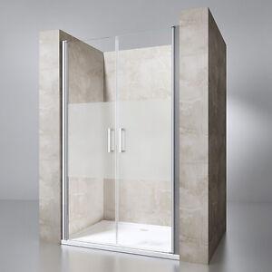 Nische Pendeltür Nischetür Duschabtrennung Dusche Duschwand Duschtür Teramo24
