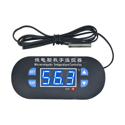 Blue Led W1308 12v Digital Thermostat Temperature Alarm Controller Sensor Meter