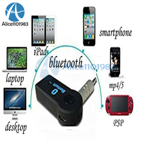 Bluetooth 3.0 Wireless 3.5mm Mono Audio Music Receiver Car AUX Speaker Adapter