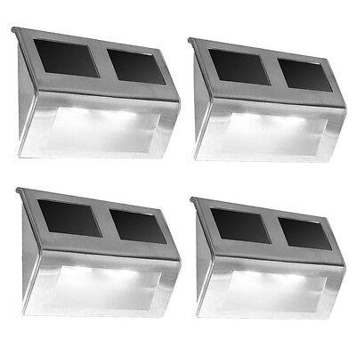 4er Set Solarleuchte Wandleuchte Gartenlampe LED Edelstahl Leuchte Strahler