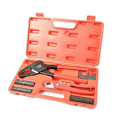 "Iwiss Pex Pipe Plumbing Crimping Tool for Copper Crimp Jaw Sets 1/2"" & 3/4"""