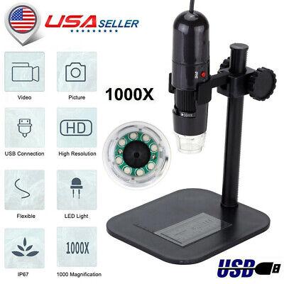 8led 50-1000x Usb Zoom Digital Microscope Endoscope Magnifier Camera Video Usa