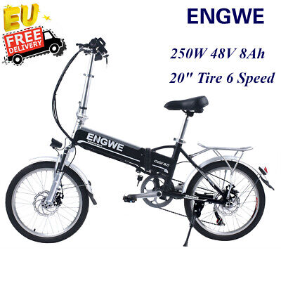 ENGWE Electric BIke Bicycle Adult 250W 6Speed 48V 8Ah Max 25KMH Petal Assist New